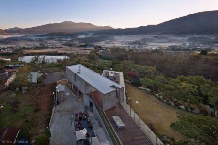 Espace Toiture Terrasse - Y-House Par ON Architecture - Ulsan, Coree Du Sud