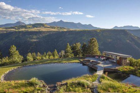 piscine naturelle & vue panoramique façade terrasse - home-Colorado par Bill-Poss - Colorado, USA