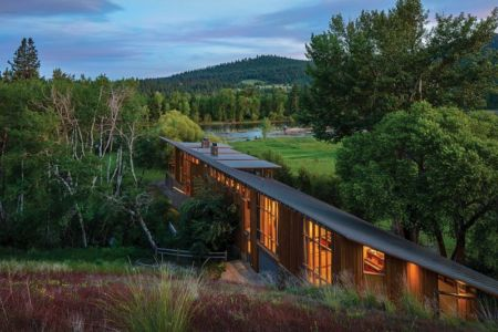 Exterieurs et panorama - Montana Glass Home par Cutler Anderson Architects - Montana, Usa