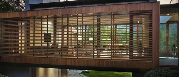 Façade Arrière - bridge-house par Joeb Moore & Partners - Kent Connecticut, USA