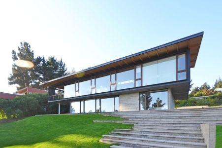 Façade Principale - House Cs par Alvaro Arancibia - Cachagua, Chili