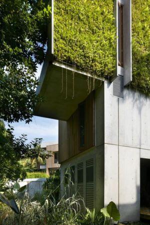 Façade étage végétalisée - Astrid-Hill-House par Tsao & McKown Architects - Singapour