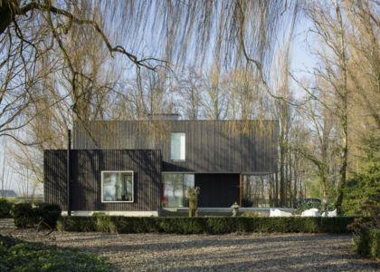 Façade avant - huize-looveld par Studio Puisto Architects, Duiven, Pays-Bas