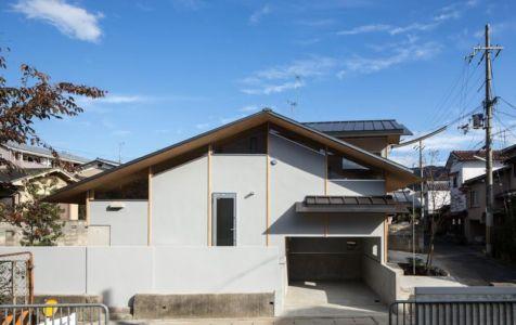 Façade entrée - Eaves-House par Y Plus M Design - Kyoto, Japon