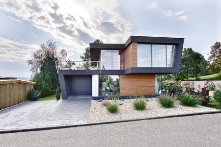 Façade entrée - House W par Studio Prototype - Duiven, Pays-Bas
