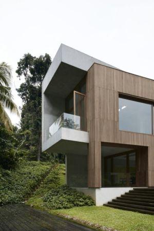 Façade jardin - Astrid-Hill-House par Tsao & McKown Architects - Singapour