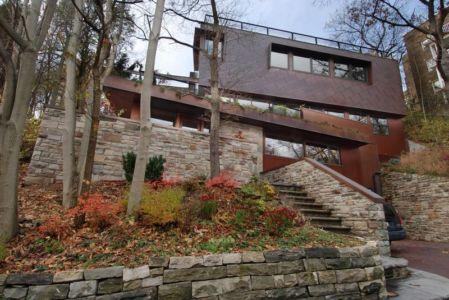 Façade jardin & Perron entrée - Ellis Park House par Altius Architecture - Toronto, Canada