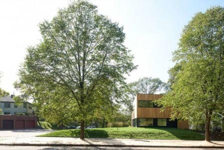 Façade jardin et chênes - Luminous-Home par D-O - Minnesota, USA