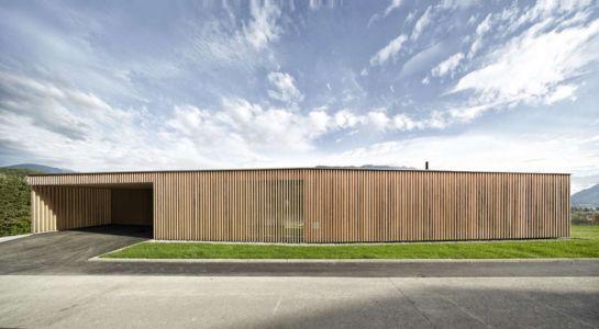 Façade jardin & façade structure en bois - Rock-House par Helena Weber - Vorarlberg, Autriche