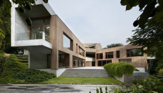 Façade principale - Astrid-Hill-House par Tsao & McKown Architects - Singapour
