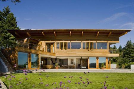 Façade terrasse - Cedar Park House par Peter Cohan - Seattle, Usa