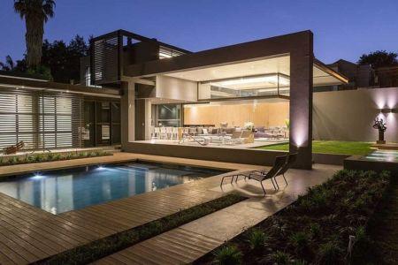 Façade terrasse - House Sar par Nico van der Meulen Architects - Johannesbourg, Afrique du Sud