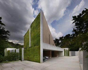 Façade terrasse et garage - Astrid-Hill-House par Tsao & McKown Architects - Singapour