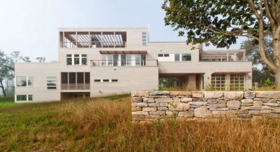 Façade Arrière - Fishers-Island-House Par 4 Architecture - New York, USA
