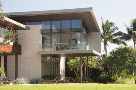 Façade Balcon étage - Ballantrae Court Par Kz Architecture - Floride, USA