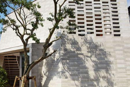 Façade Bloc Mur - Shirasu Par Asei-Suzuki - Kagoshima, Japon