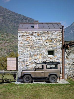 Façade En Pierres - SV-House Par Rocco Borromini - Albosaggia, Italie
