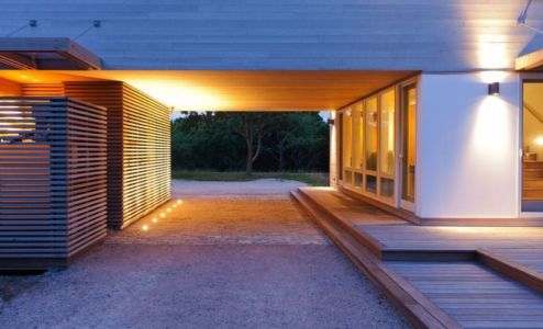 Façade Entrée - Fishers-Island-House Par 4 Architecture - New York, USA