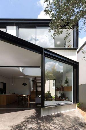 Façade Entrée Baie Vitrée Coulissante - Unfurled-House Par Christopher Polly Architect - Sydney, Australie