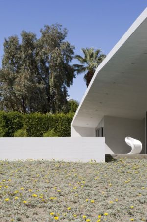 Façade Jardin - Desert Canopy House Par Sander Architects - Palm Springs, USA