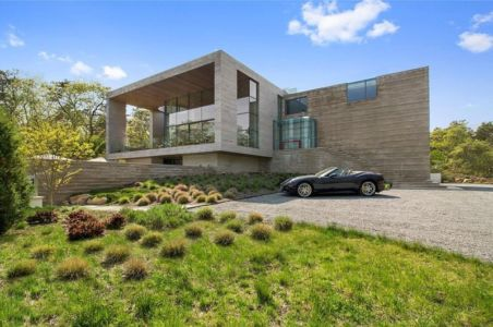 Façade Jardin - Hampton-Home Par Barnes Coy Architects - Hamptons, USA