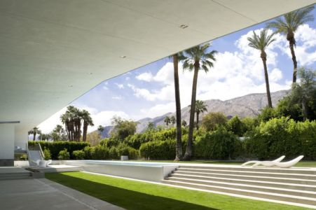 Façade Jardin & Terrasse - Desert Canopy House Par Sander Architects - Palm Springs, USA