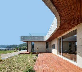 Façade Jardin & Terrasse - House-Dongmang Par 2m2 Architects - Geoje, Coree Du Sud
