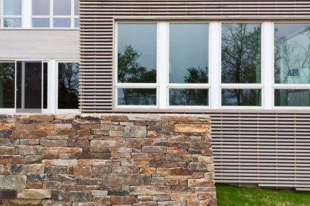Façade Partie En Pierres - Fishers-Island-House Par 4 Architecture - New York, USA