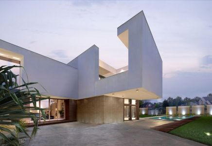 Façade Teraase & Jardin - Super-Villa Par Wolf Architects - Los Angeles, USA
