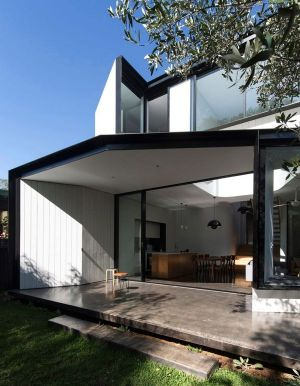 Façade Terrasse - Unfurled-House Par Christopher Polly Architect - Sydney, Australie