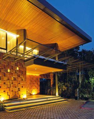 Façade Terrasse & Balcon Illuminée - Akanaka Par RAW Architecture - Jakarta Indonésie