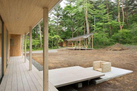 Façade Terrasse & Cour Intérieur - Shed-Roof-House Par Hiroki Tominaga - Yamanashi, Japon