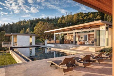Façade Terrasse & Piscine - Healdsburg-by-John Par John Maniscalco - Healdsburg, USA