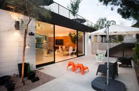 Façade Terrasse & Vue Terasse Toit - Mid-century-family-home Par Nakhshab - San Diego, USA