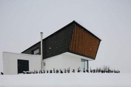 Façade Toiture - Maison En T Par SoNo Arhitekti - Slovénie