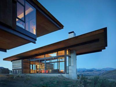 Façade Vitrée Illuminée - Studhorse Par Olson Kundig - Washington, Etats-Unis