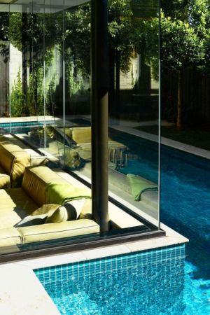 Façade Vitrée Salon - Sunken-living-room Par OFTB - Brighton, Australie