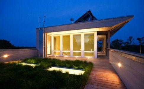 Façade Vitrée Terrasse Bois Toiture - Fishers-Island-House Par 4 Architecture - New York, USA