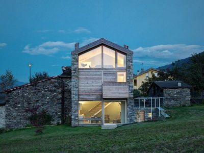 Façades Vitrées - SV-House Par Rocco Borromini - Albosaggia, Italie