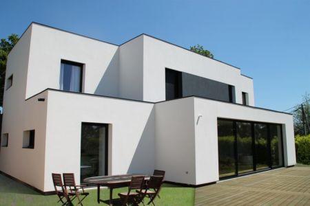 Face terrasse - V&P - Maison contemporaine par Pascal Dupuis - France - Photo Jacky Abélard