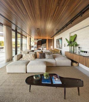 Grand Espace Salon - Fazenda-Boa-Vista Par Fernanda Marques Arquitetos - Porto Feliz, Bresil