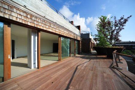 Grande Terrasse et Baie Vitrée - House Green par Luciano - Turin, Italie