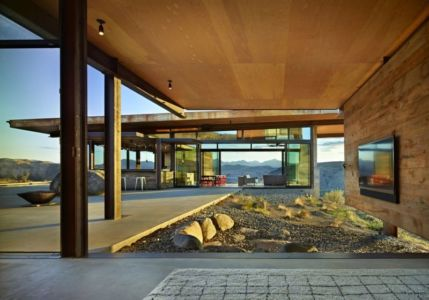 Grande Façade Terrasse - Studhorse Par Olson Kundig - Washington, Etats-Unis