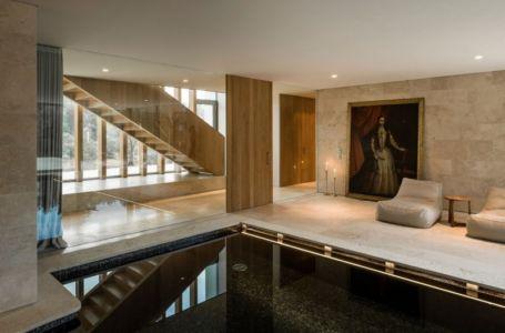 Hall d'entrée - Vivienda en Son Vida par Negre Studio & Rambla 9 Arquitectura - Palma de Majorque, Espagne
