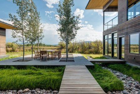 terrasse et jardin - Maison Contemporaine Bois par Carney Logan Burke Architects - Wilson, Usa