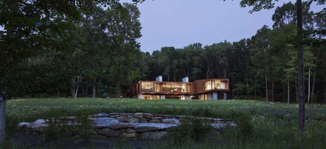 Jardin & vue d'ensemble - bridge-house par Joeb Moore & Partners - Kent Connecticut, USA
