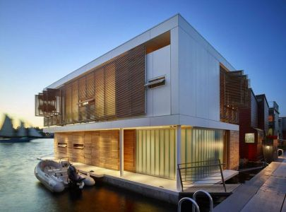 Lac Union & Façade Terrasse - Floating-Home Par Vandeventer-Carlander - Seattle, USA