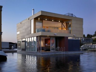 Lake Union Floating Home by Vandeventer + Carlander Architects - Seattle - USA - photo Ben Benshneider