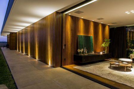Longue Couloir Extérieur - MCNY-House Par Mf Arquitetos - Franca, Bresil
