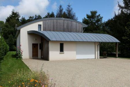 Maison-Bioclimatique par Patrice Bideau- Atypique - Pluvigner, Bretagne-France | + d'infos